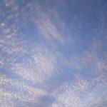 今日の空は青かった
